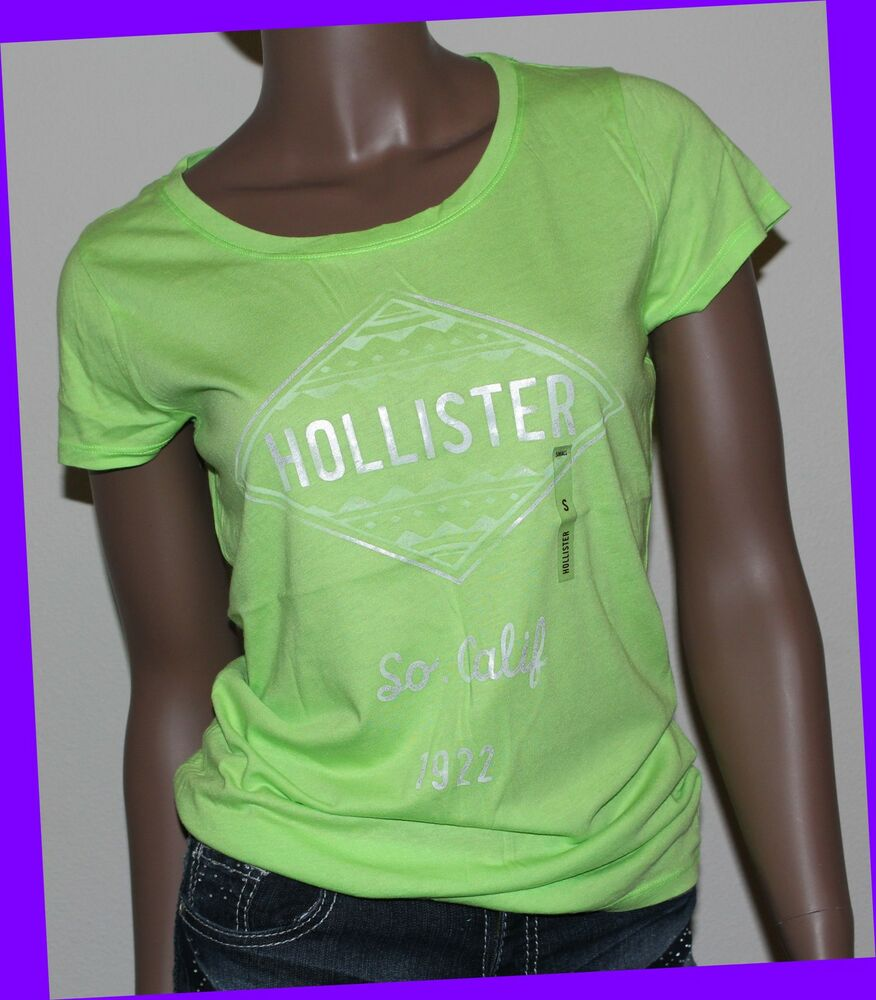 Hollister co womens green tribal print graphic design tee for Graphic t shirt printing company