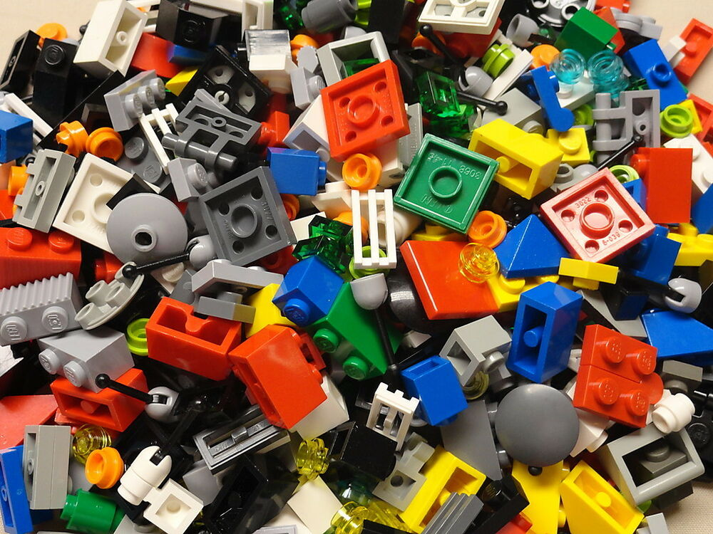100 clean small lego pieces from huge lot