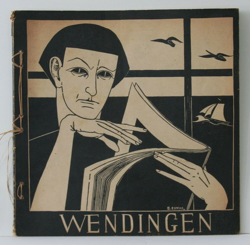 wendingen art deco magazine 1923 ex libris by dutch designers b essers ebay. Black Bedroom Furniture Sets. Home Design Ideas