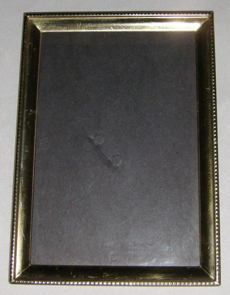 Goldtone 5x7 Metal Picture Frame Holds 4x6 Photo Ebay