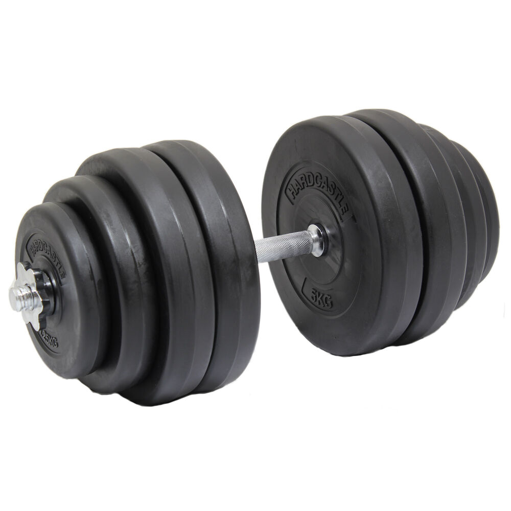 Exercise Barbell Dumbbell: 30KG SINGLE HEAVY DUMBBELL FREE WEIGHT SET GYM BARBELL
