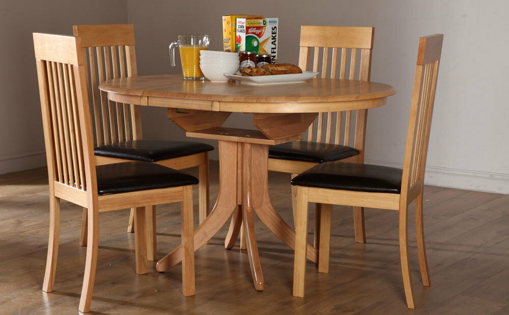 Hudson Oxford Round Extending Oak Dining Table And 4 6 Chairs Set Brow