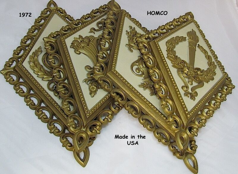 1971 Homco Wall Plaques Set Of 4 Later Called Home