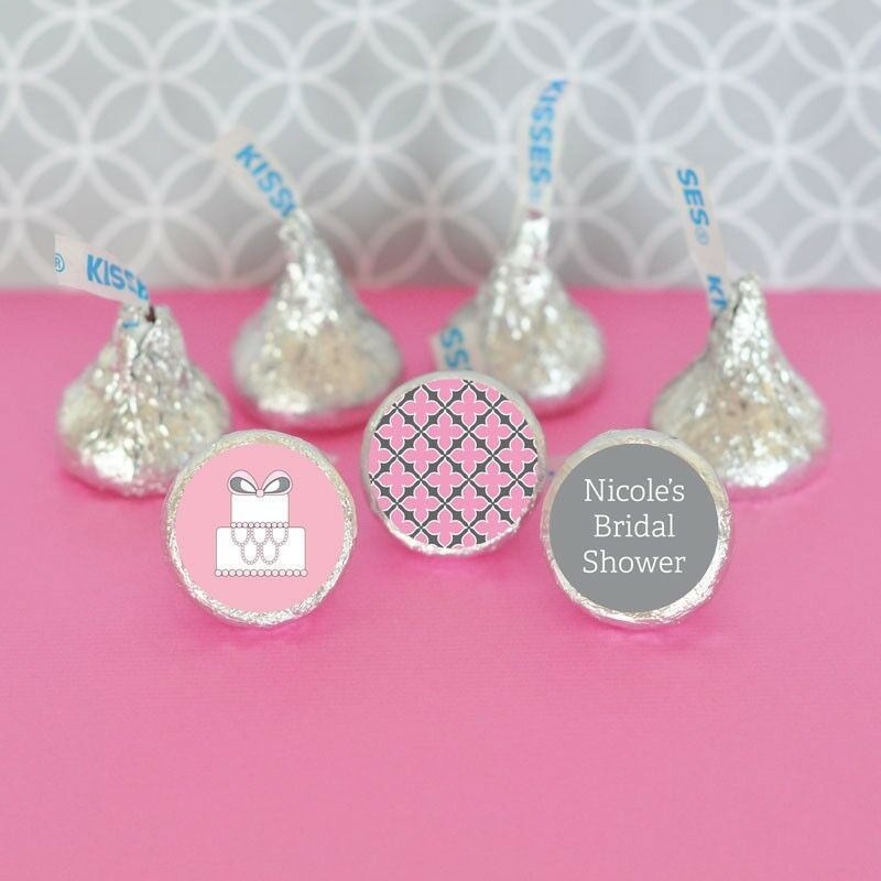 108 personalized wedding shower hershey39s kisses labels for Personalized wedding shower favors