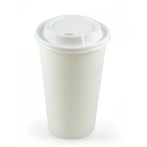 Coffee Cups With Lids : Oz white paper cups lids disposable tea coffee