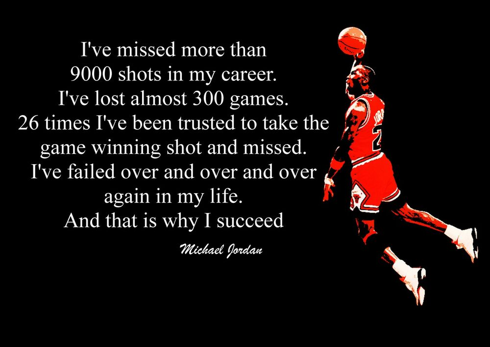 INSPIRATIONAL MICHAEL JORDAN BASKETBALL QUOTE POSTER