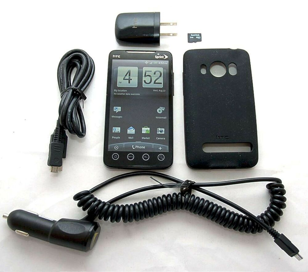 HTC EVO 4G Sprint PCS BLACK Google Android Smart Cell ...