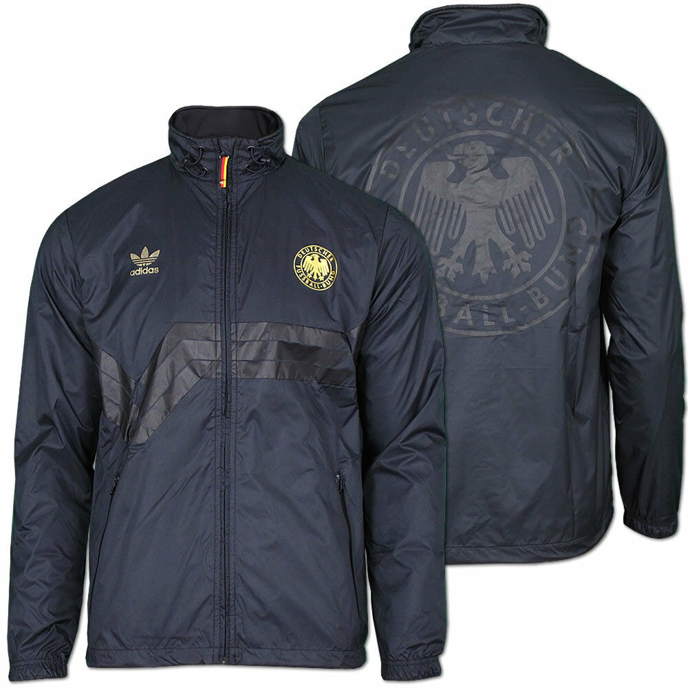 adidas herren jacke dfb colorado windbreaker deutschland xs xl schwarz gold ebay. Black Bedroom Furniture Sets. Home Design Ideas