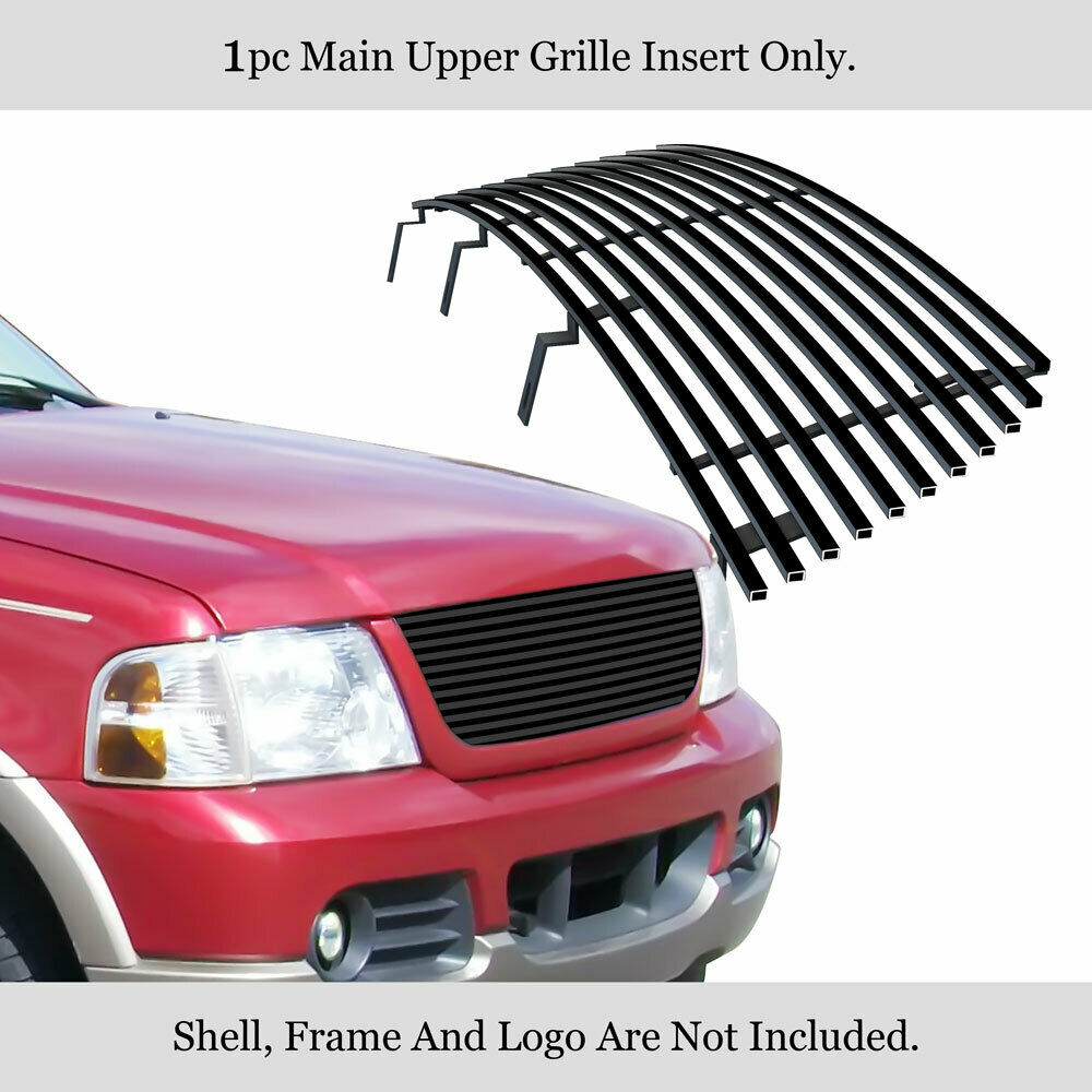fits ford explorer black billet grille insert 02 05 ebay. Black Bedroom Furniture Sets. Home Design Ideas