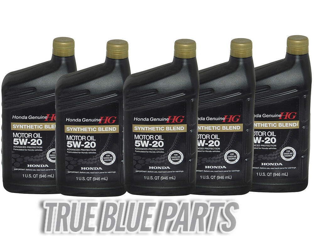 Honda genuine motor oil 5w 20 synthetic blend 5 quarts for How is synthetic motor oil made