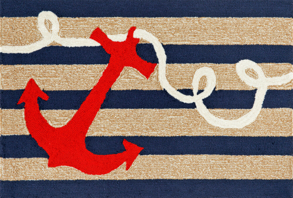 Area Rugs Quot Anchor Bay Quot Rug Indoor Outdoor Nautical Rug