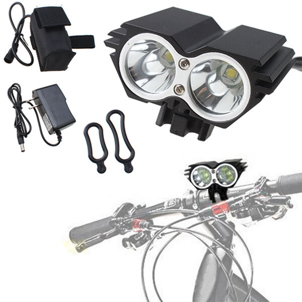 5000 lumens 2x cree xm l u2 led cycling bicycle white light headlamp headlight ebay. Black Bedroom Furniture Sets. Home Design Ideas