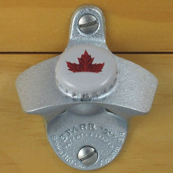 Molson Canadian Bottle Cap Maple Leaf Starr X Wall Mount