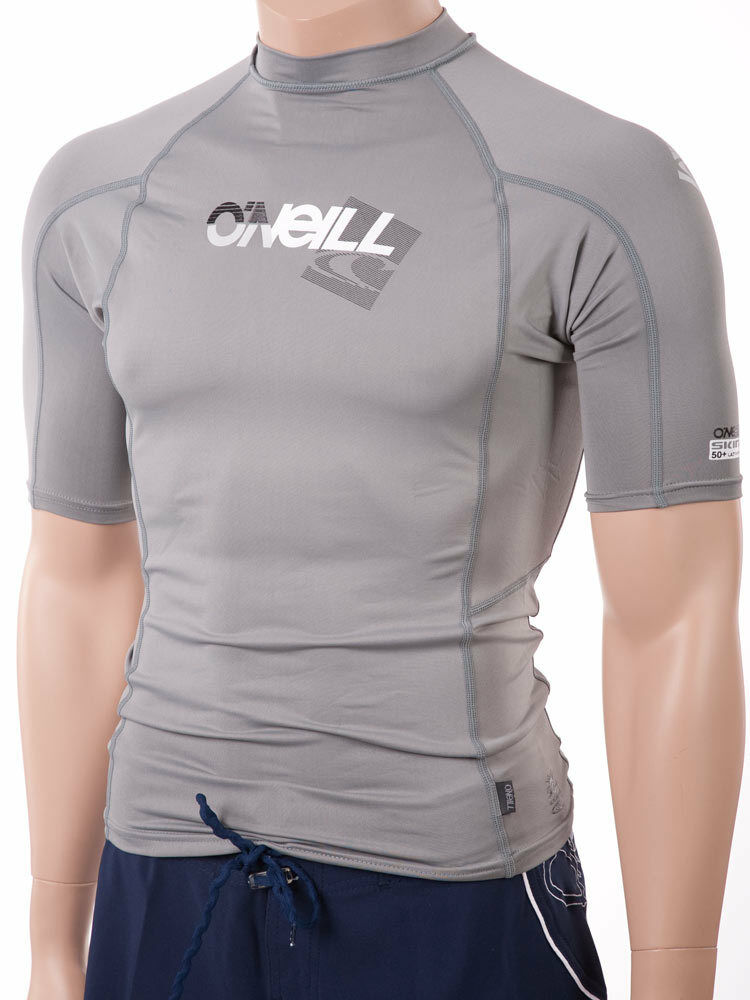 O 39 neill men 39 s short sleeve rashguard lycra swim shirt for Uv protection t shirt