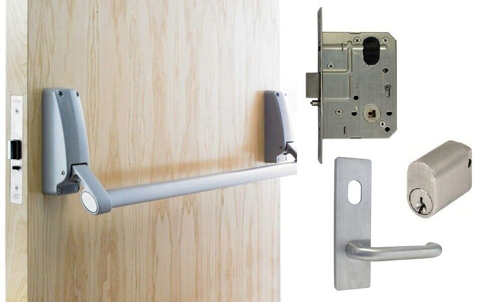 Briton Exit Door Pack B379 Panic Bar Ms2 Mortice Lock Key
