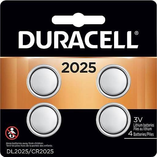 4 Pack Duracell Cr2025 3 Volt Battery Ecr2025 Cr 2025