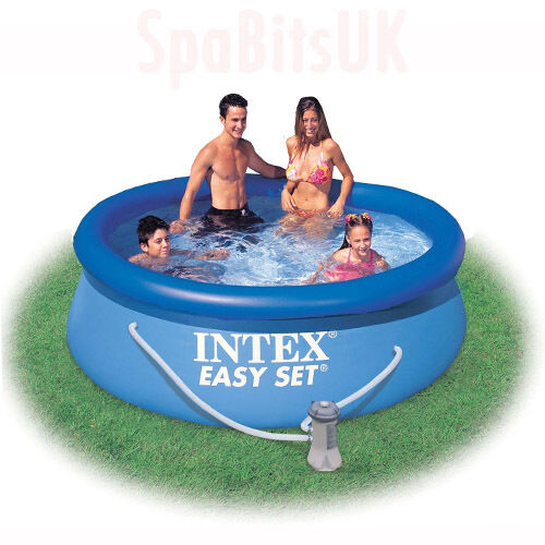 intex 10ft swimming pool and pump easy set pool round above ground b q ebay. Black Bedroom Furniture Sets. Home Design Ideas