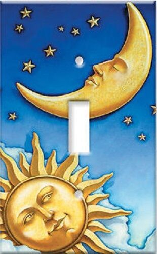 celestial sun moon Unique room decor LIGHT SWITCH PLATE ...