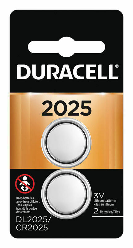 2 Pack Duracell Cr2025 3 Volt Battery Ecr2025 Cr 2025
