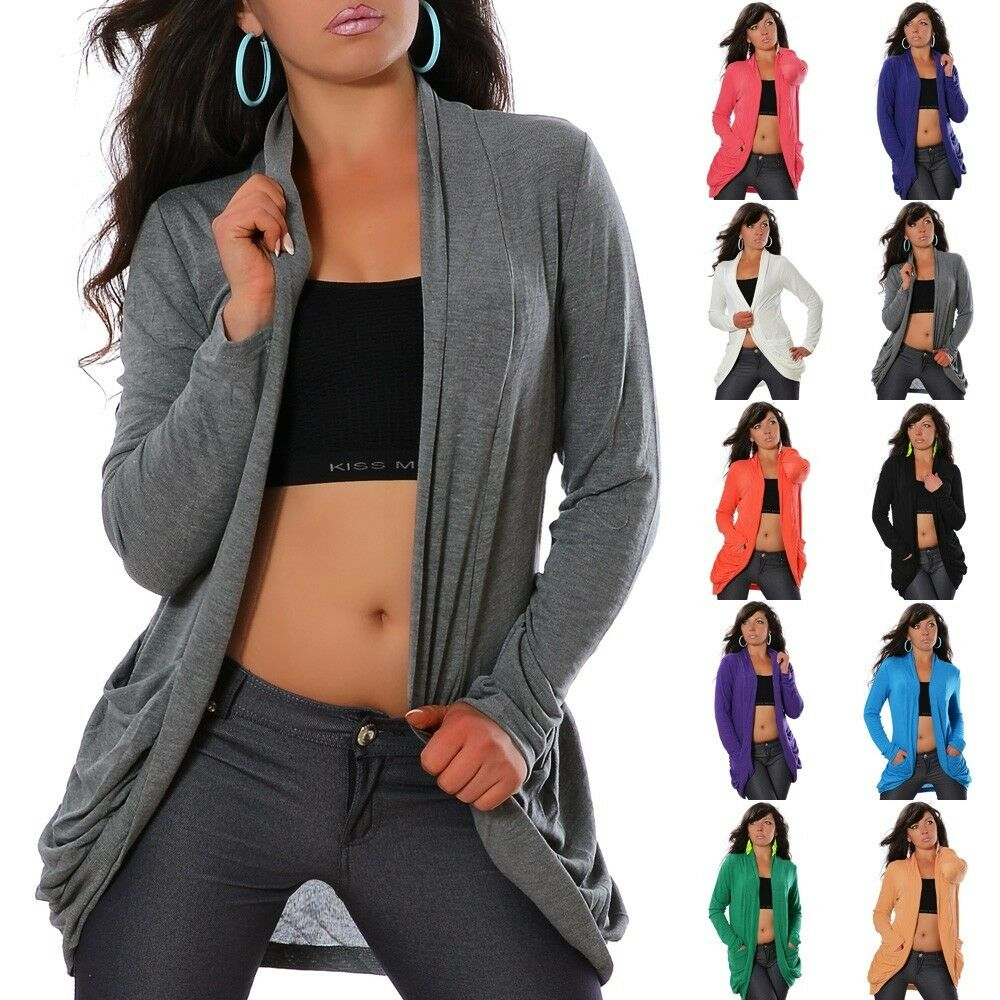 neu damen trendy strickweste strickjacke weste cardigan strick jacke bolero n633 ebay. Black Bedroom Furniture Sets. Home Design Ideas