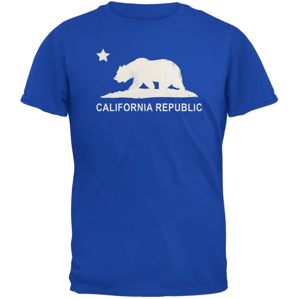 california republic adult mens t shirt ebay. Black Bedroom Furniture Sets. Home Design Ideas
