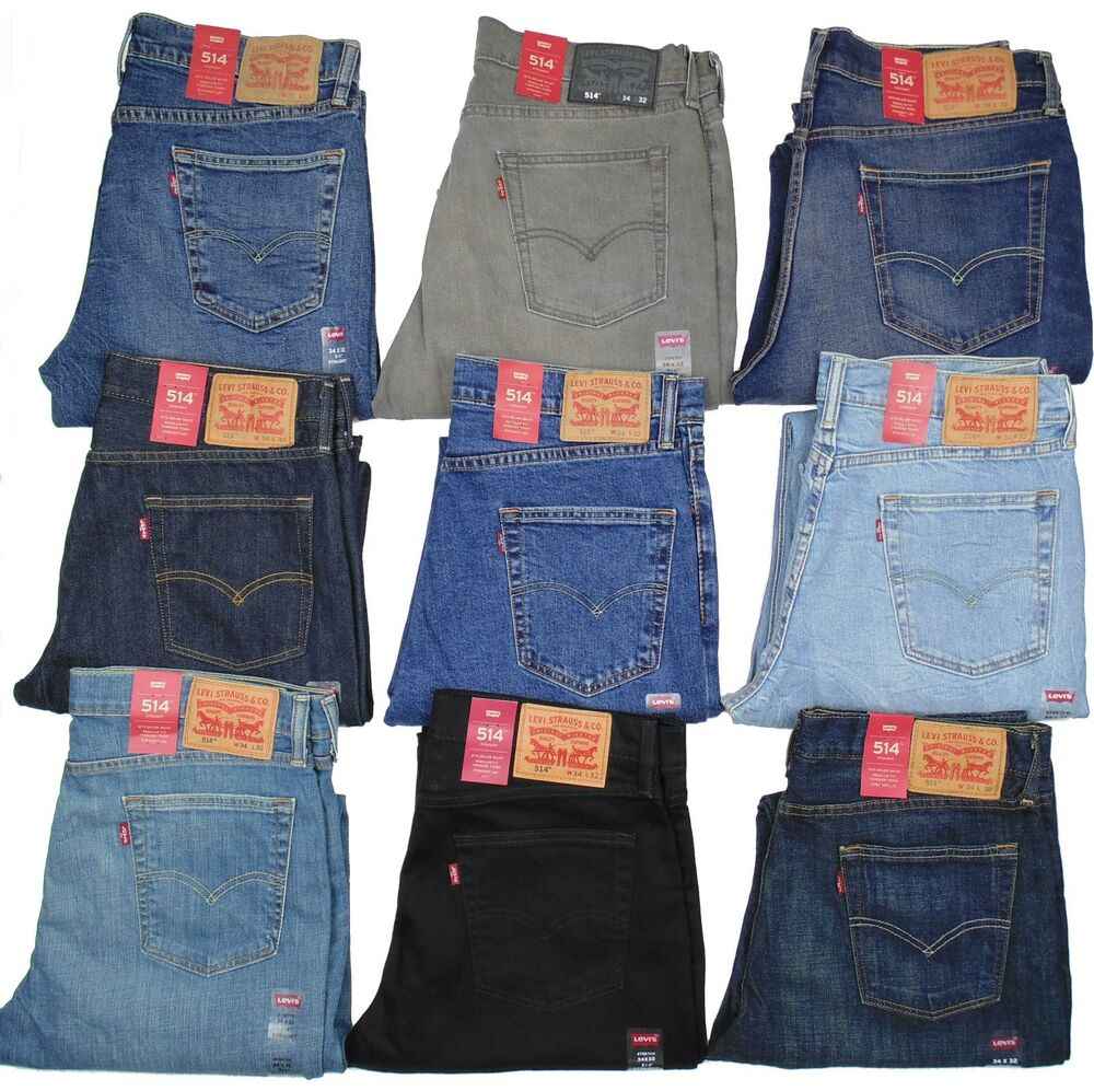 Levis 514 Mens Jeans Slim Fit Straight Leg Many Colors ...