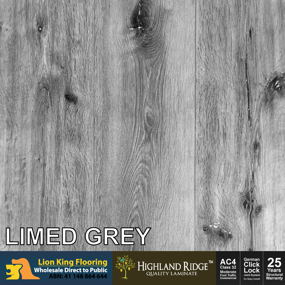 12mm Laminate Flooring Embossed Realistic Timber Look Finish Limed Grey