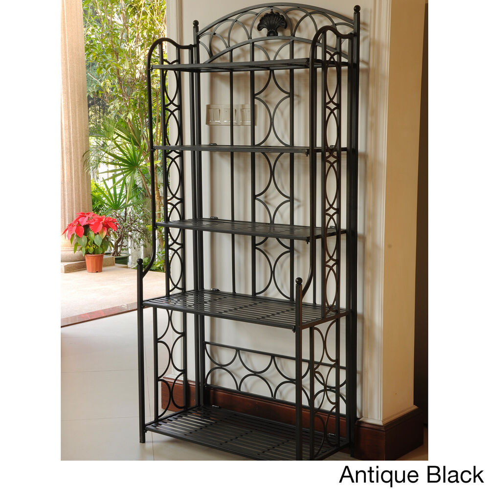 International Caravan Iron 5 Tier Baker S Rack Ebay