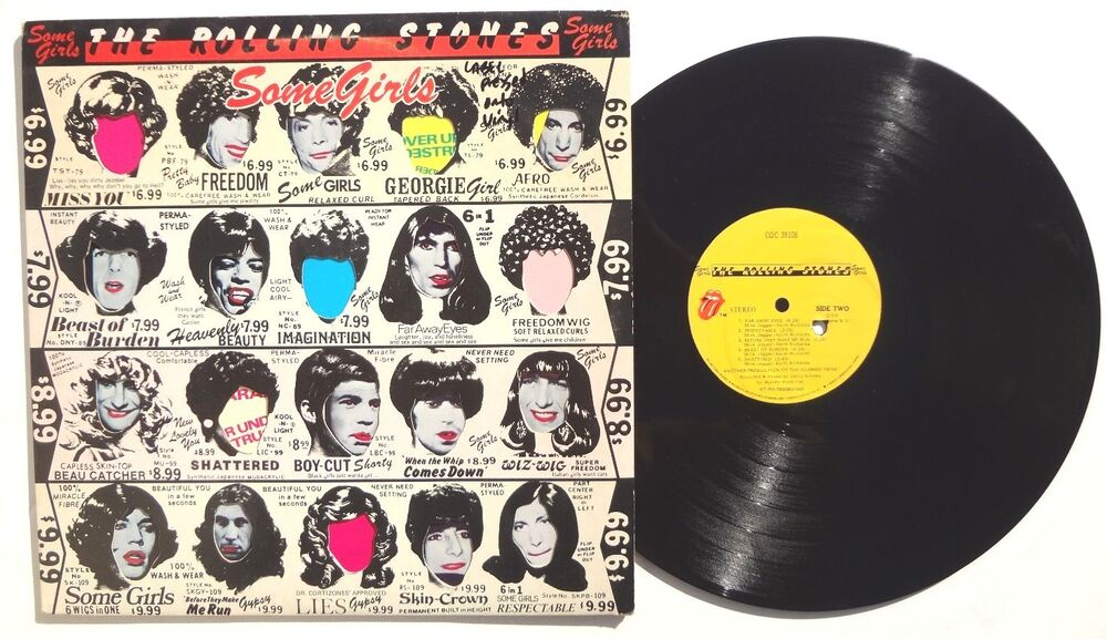 The Rolling Stones Some Girls Lp Coc39108 Us 1978 Rare