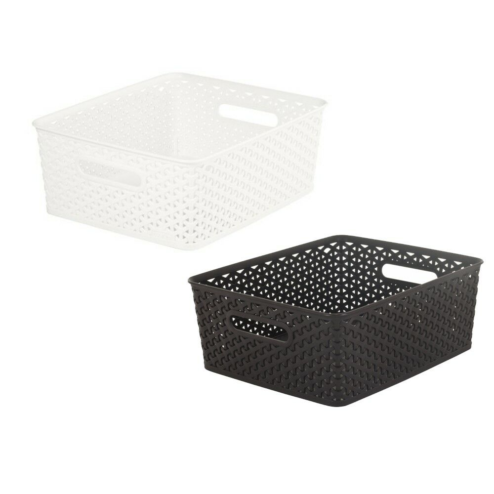 curver small rattan style plastic kitchen storage fruit. Black Bedroom Furniture Sets. Home Design Ideas