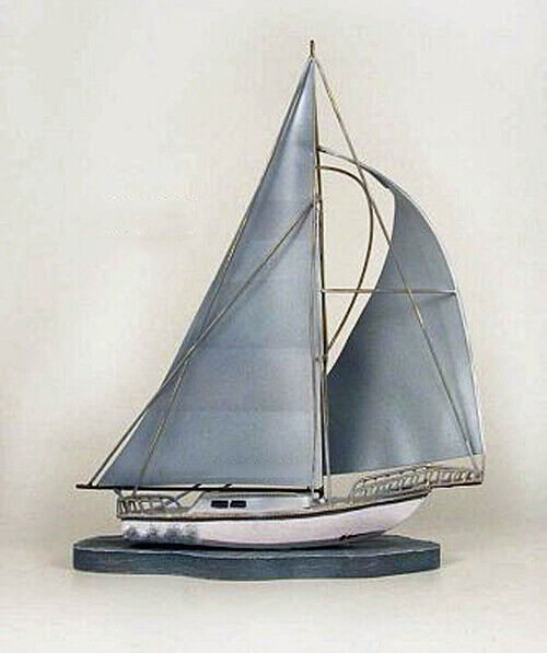 Coastal home decor tabletop sailboat sculpture for Household decorative accessories