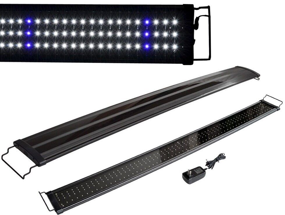 48 aquarium led light 2 modes bright lunar freshwater for Fish tank lighting