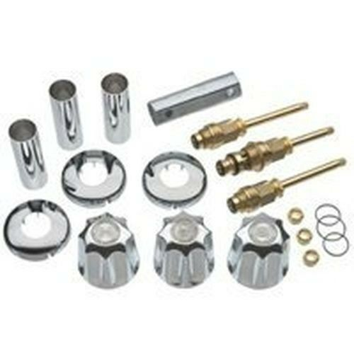 danco 39617 gerber 3 handle tub shower faucet remodel rebuild full kit