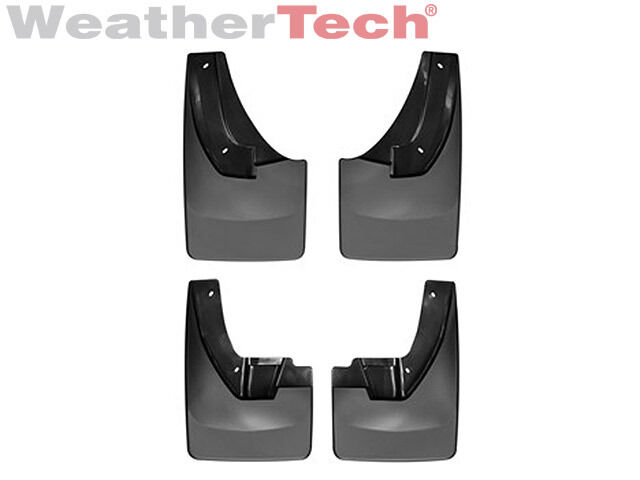 WeatherTech No-Drill MudFlaps for Dodge RAM 2500//3500 Dually 2010-2018 Full Set