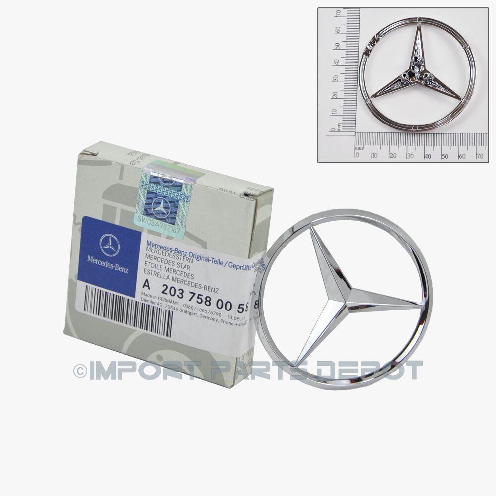 Mercedes benz trunk lid star emblem badge genuine original for Mercedes benz trunk emblem