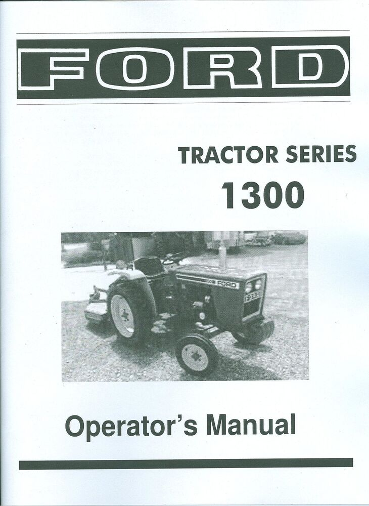 ford tractor owners manual series  diesel ebay