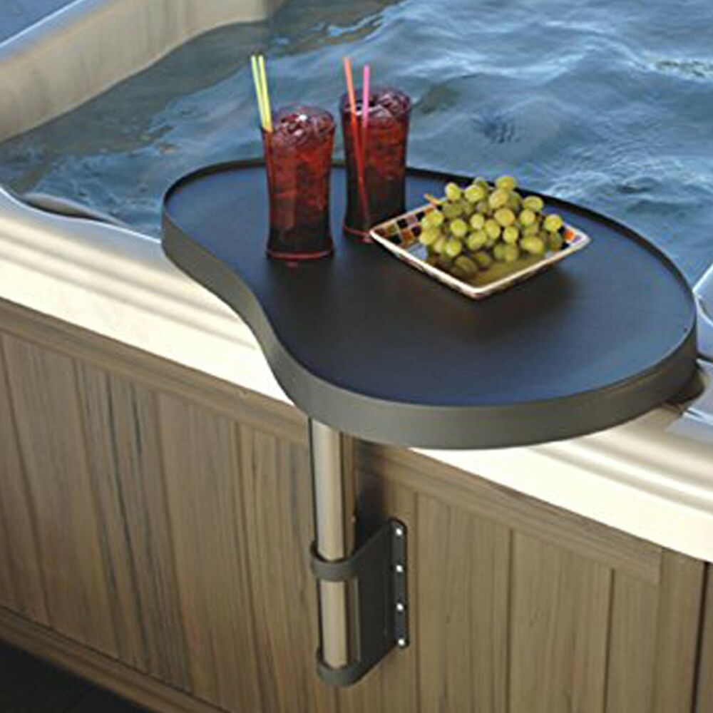 Essentials spa caddy tray hot tub table bar with attachments swings over hot tub ebay - Table bar salon ...