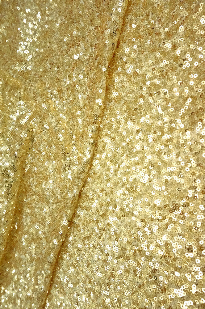 Gold seaweed sequin all over fabric for dance wear for Sequin fabric