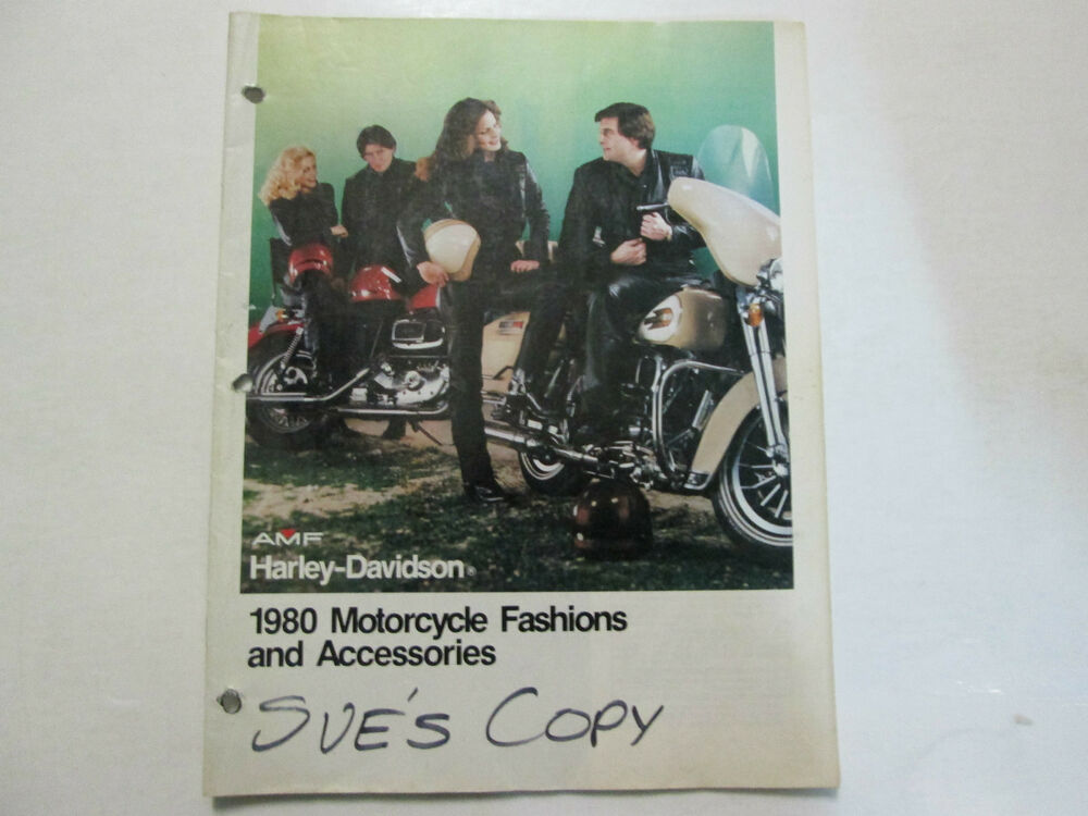 1980 Harley Davidson Motorcycle Fashions And Accessories