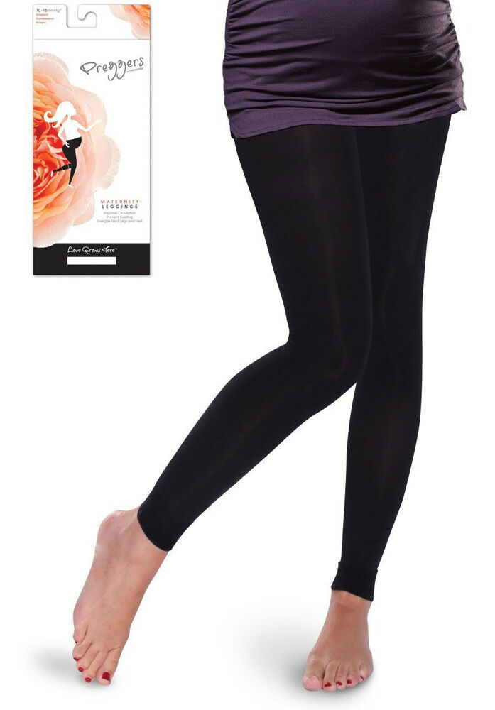 Preggers Maternity Light Compression Leggings 10-15 mmHg ...