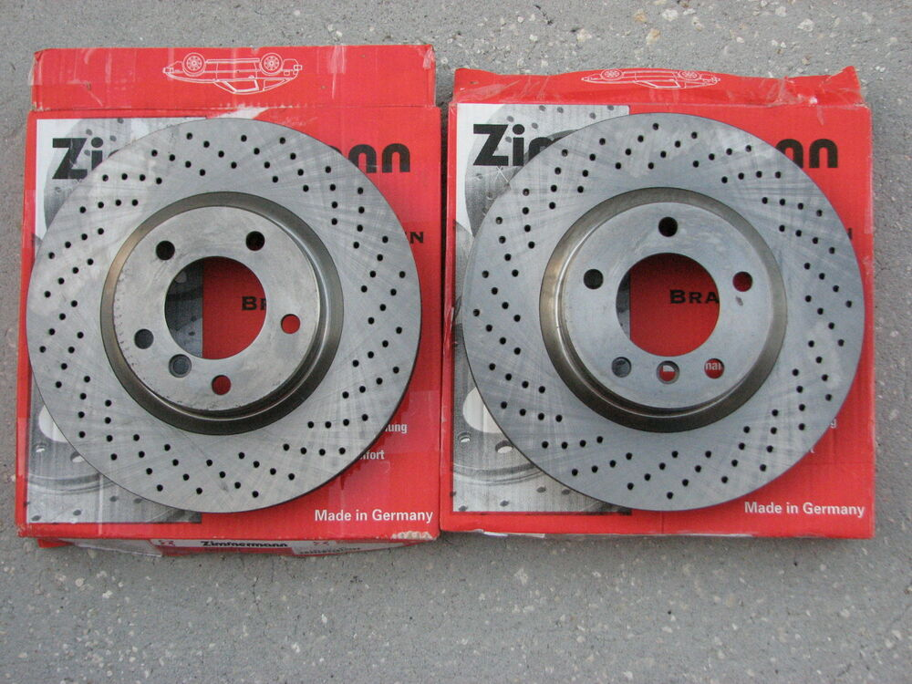 Bmw Zimmerman Cross Drilled Front Brake Rotor Set E36 M3