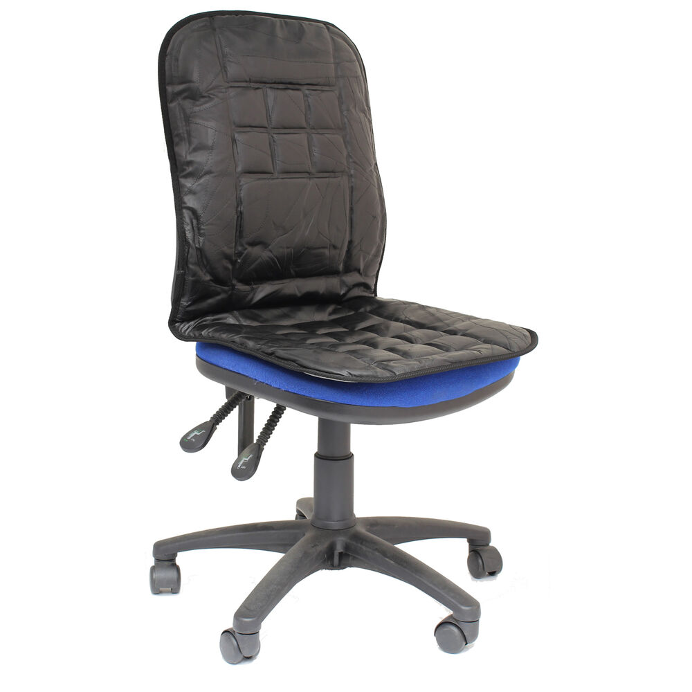 ORTHOPAEDIC LEATHER DESK OFFICE CHAIR BACK SEAT CUSHION LUMBAR SUPPORT MASSAG