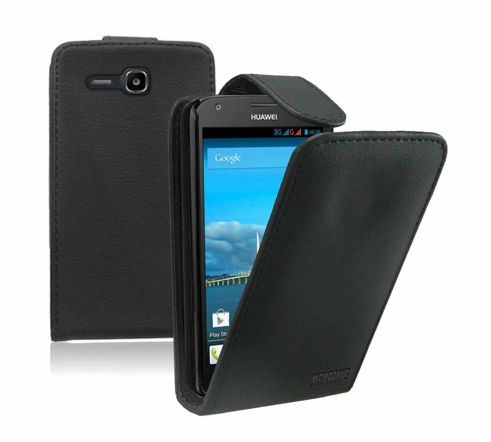 leather flip case cover pouch for mobile phone huawei ascend y600 dual ebay. Black Bedroom Furniture Sets. Home Design Ideas