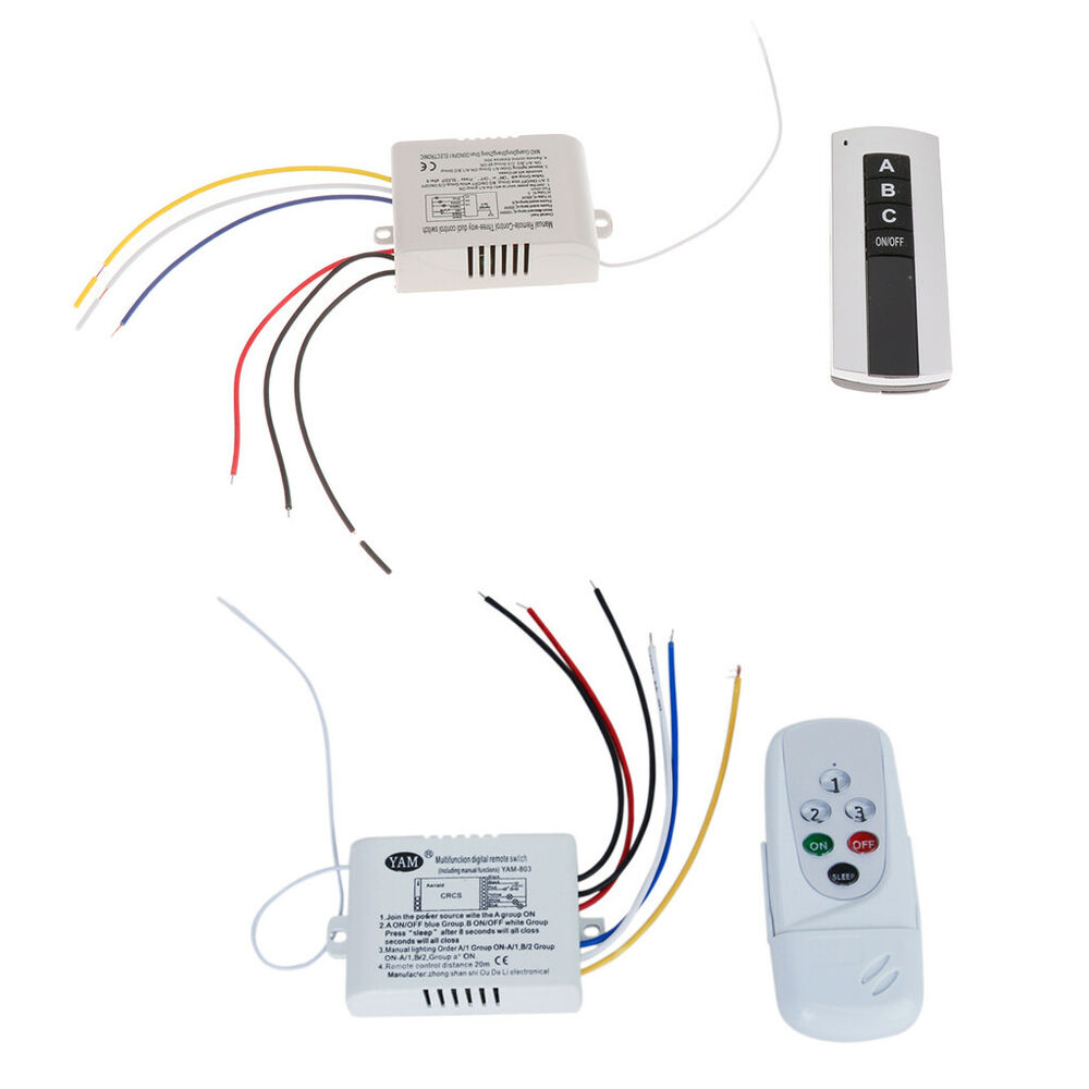 Fan Or Light Wall Remote Control : Wireless 3-Way ON/OFF Digital Light Lamp Wall Switch+Remote Control AC 220V-240V eBay