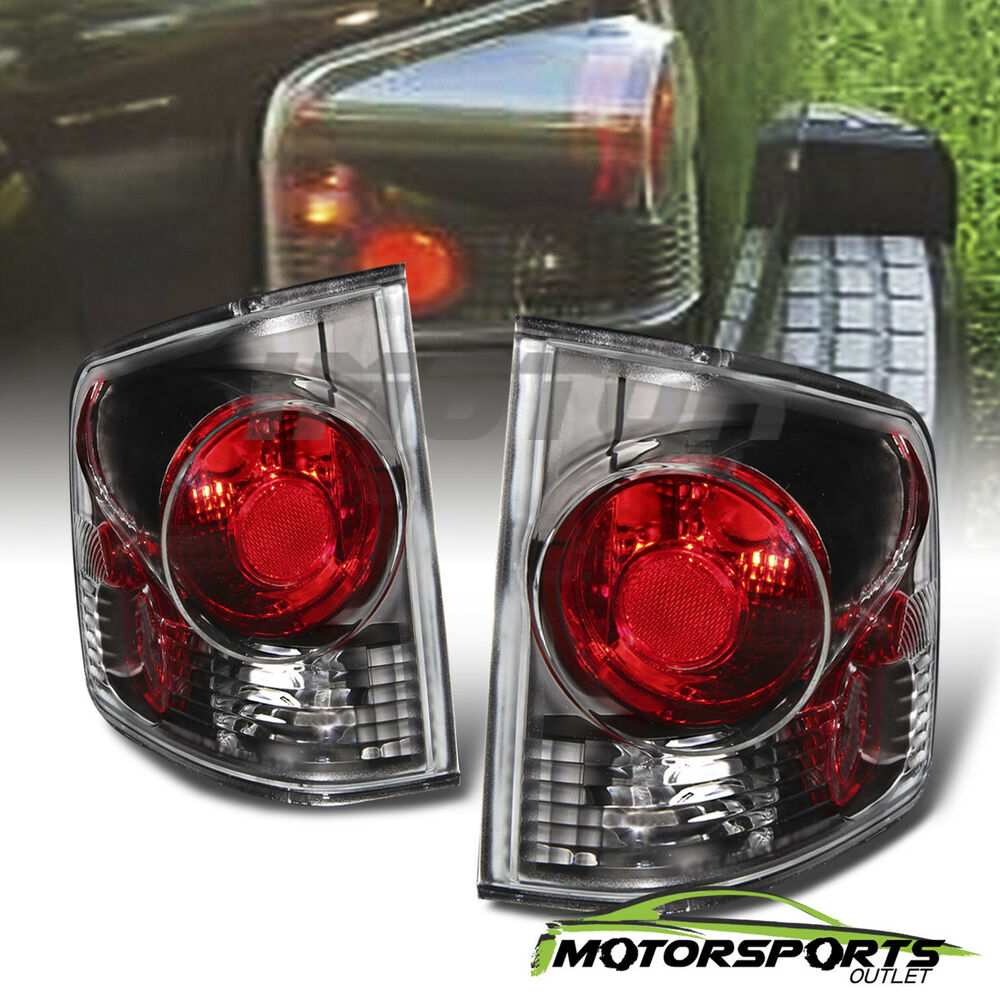 For 1994 Gmc Sonoma Black Rear Brake Tail Lights Pair