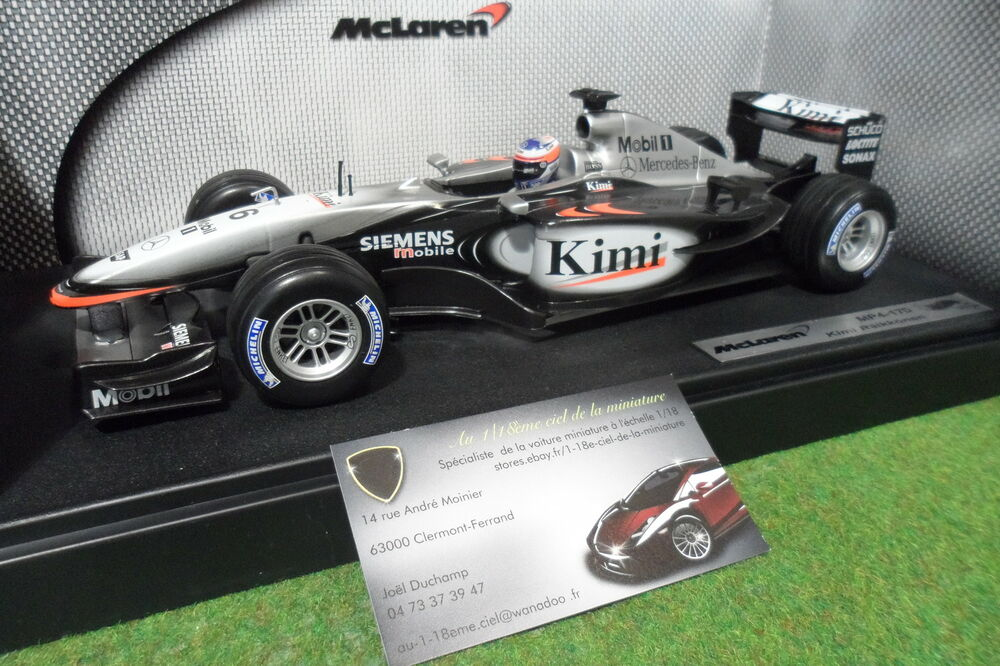 f1 mclaren mp4 17d kimi r ikk nen 6 au 1 18 hot wheels b1650 formule 1 voiture ebay. Black Bedroom Furniture Sets. Home Design Ideas