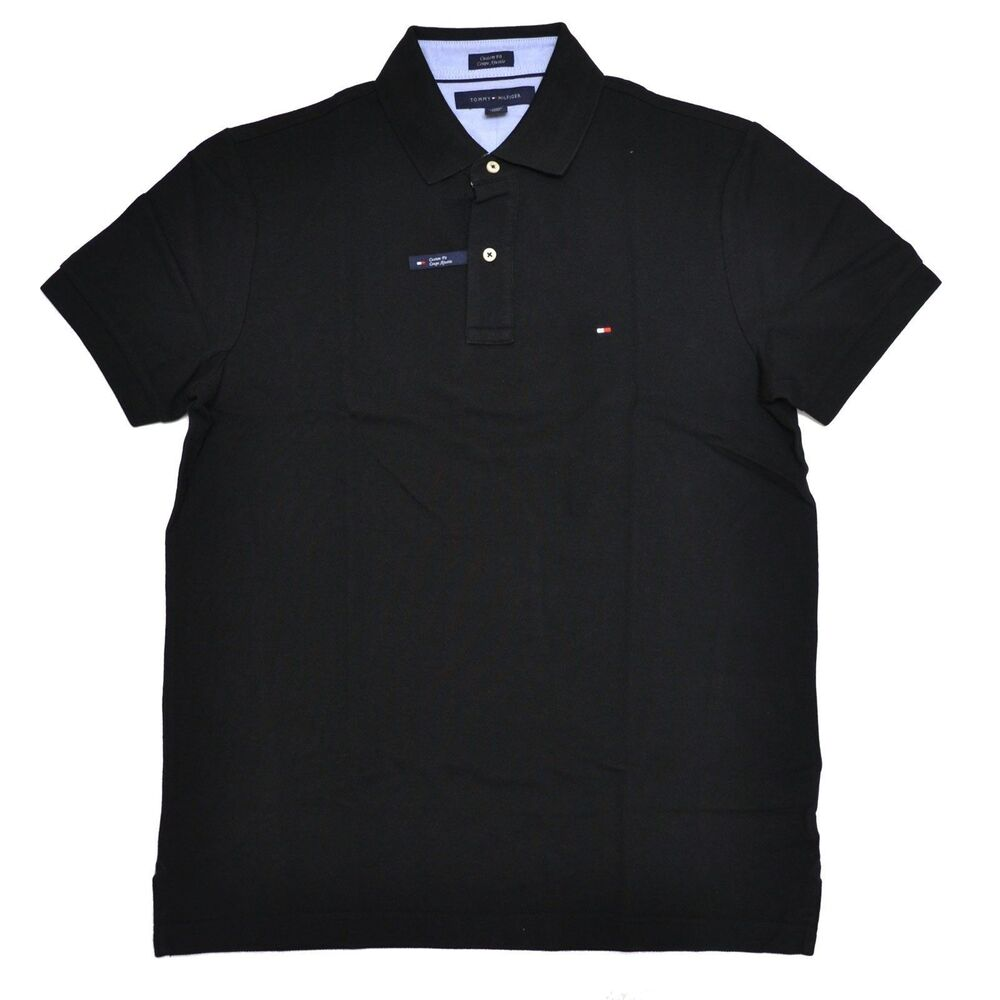 tommy hilfiger poloshirt polo shirt black size s xxxl ebay. Black Bedroom Furniture Sets. Home Design Ideas