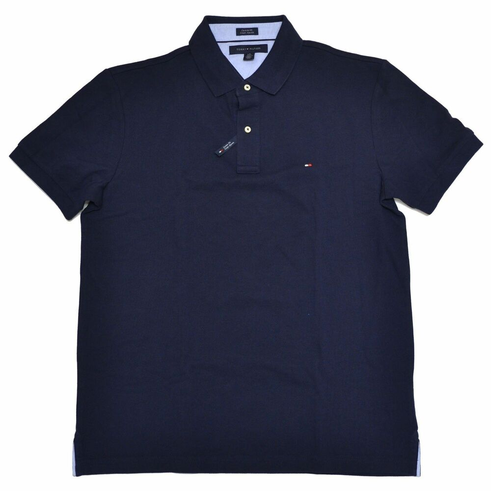tommy hilfiger poloshirt polo shirt darkblue size s xxxl ebay. Black Bedroom Furniture Sets. Home Design Ideas