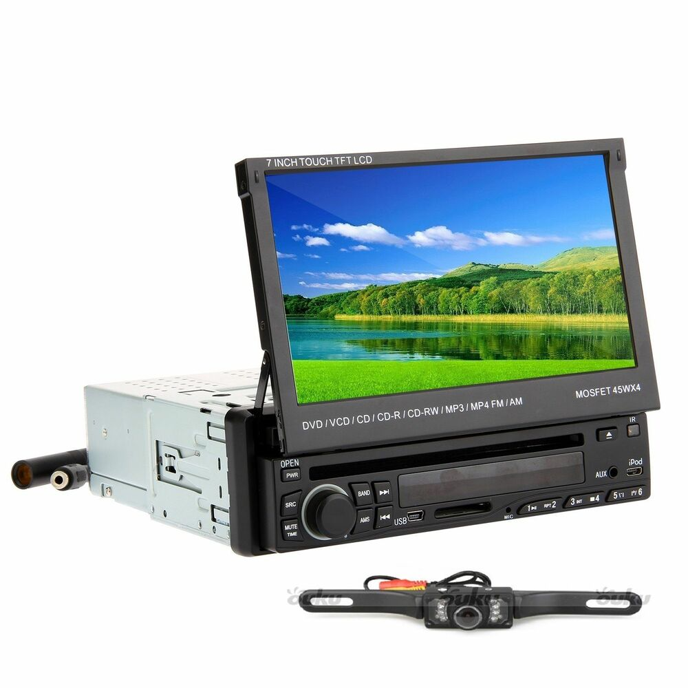 7 Inch LCD Touchscreen 1Din Car Auto DVD CD Player Stereo