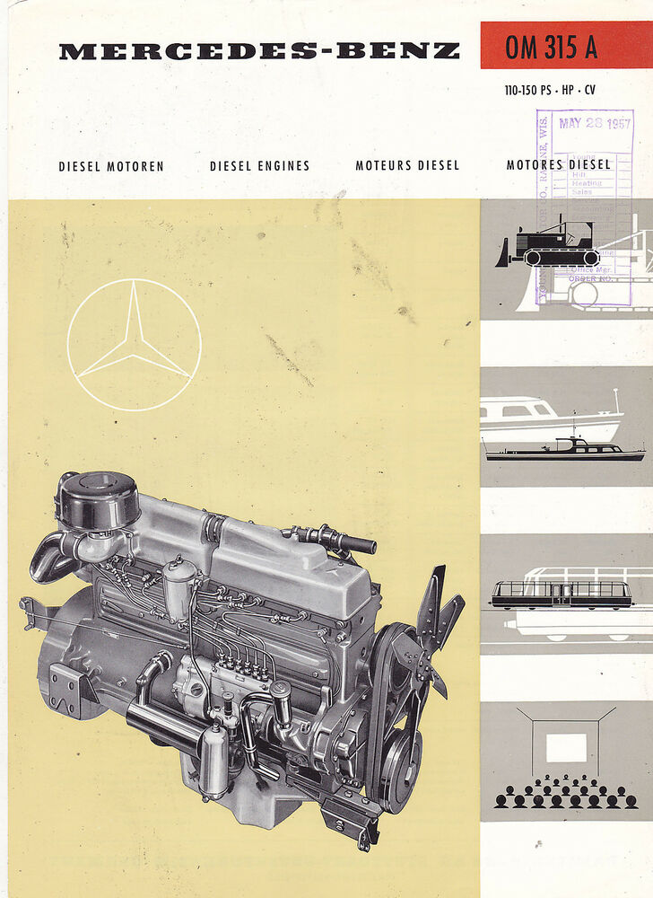 Vintage catalog 2763 1967 mercedes benz diesel engines for Mercedes benz diesel engines